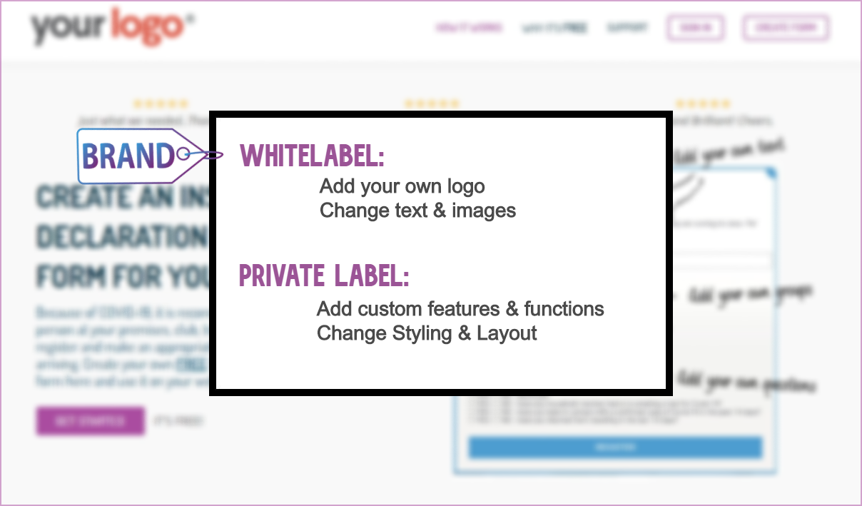 whitelabel the COVID-19 Register project for your brand